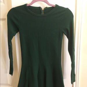 Mini dress dark green