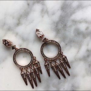 House of Harlow 1960 Jewelry - House of Harlow•Rosegold Vibrations Earrings