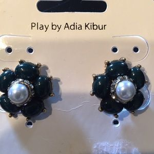 Adia Kibur Jewelry - Statement earrings w dark blue 💎 gems