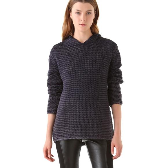 1526e2f629 T by Alexander Wang crochet knit hoodie sweater. M 597c24ce41b4e087e105db8e