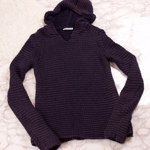 T by Alexander Wang Sweaters - T by Alexander Wang crochet knit hoodie sweater
