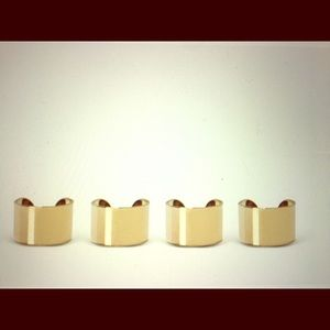 Maison Margiela Jewelry - Maison Margiela set of four brass rings