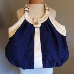 Brahmin Handbags - Brahmin tote bag- royal blue and white leather