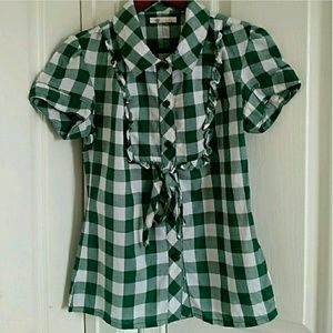 Tulle Tops - 🌷CUTE🌷 GINGHAM TOP SIZE M