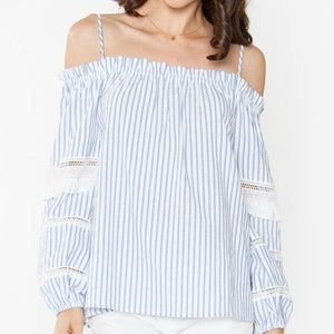 Jaded Affairs Tops - Chelsea Lace Cold Shoulder Top
