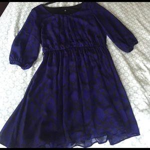 Iz Byer Dresses & Skirts - IZ Byer xl dress blue black 3/4 sleeve