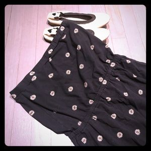 Jack Wills Dresses & Skirts - Jack Wills maxi bandeau black daisy slit dress