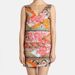 MSGM Dresses & Skirts - MSGM Printed V Neck Sleeveless Shift Dress 40
