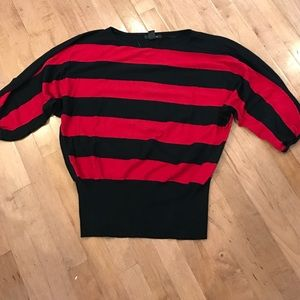 Style & Co striped dolman sleeve sweater