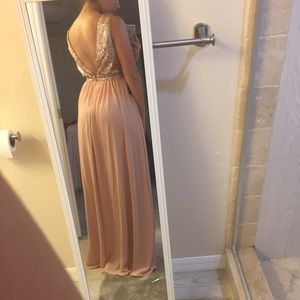 c2d0fc0d695 Lulu s Dresses - Elegant encounter rose gold sequin maxi dress