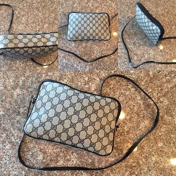 14b8009ba0470 Vintage 80's Gucci Crossbody Shoulder Bag Purse