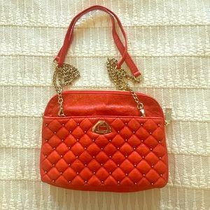 Rebecca Minkoff orange studded shoulder bag