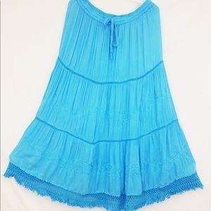 Dresses & Skirts - Women Large Adjustable Cotton Skirt w/Lining