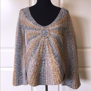 Free People Sunburst Bell Sleeve Sweater