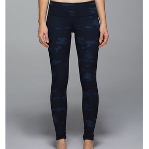 Lululemon Camo Wunder Unders In Lotus Oil Slick