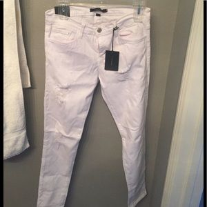 Flying Monkey white distressed jeans