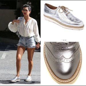 Australia Luxe Collective Shoes - NEW seen on Kourtney Kardashian ALC silver oxford