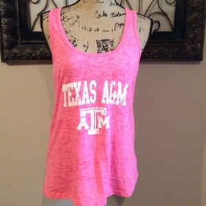 Pink Texas A&M tank. Sz L