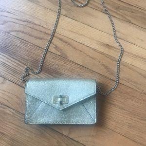 DVF gold purse