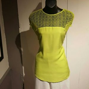 Lime Crochet Top