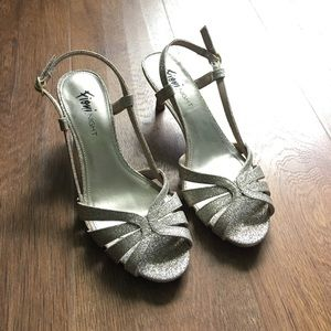 Macy's Shoes - Sparkly Gold Heels