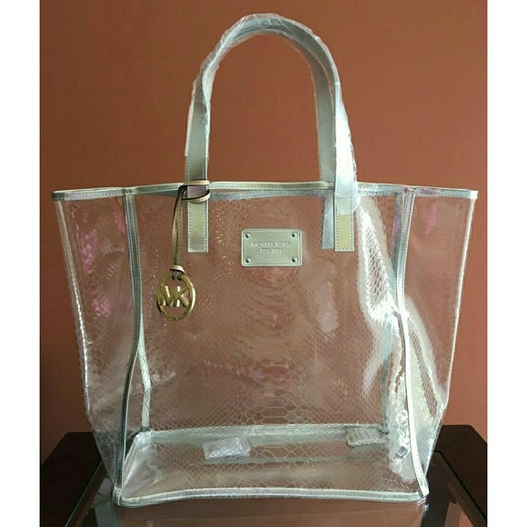117296a17d67a5 New Michael Kors Clear Bag, Silver Trim. M_58efeddc6a58308d8b00acdc