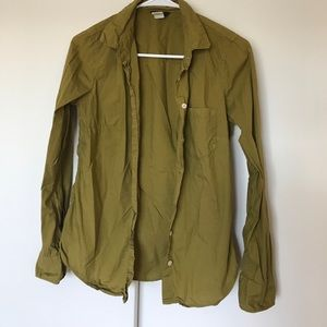 J. Crew button up shirt-Olive size 2