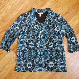 Dana Buchman Tops - Dana Buchman Cowl 3/4 Sleeve Blouse