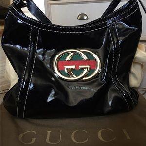 Gucci Handbags - Black patent leather Gucci tote! Worn twice!