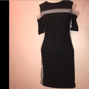 NWOT Women's Topshop, Mini Dress, Black,8
