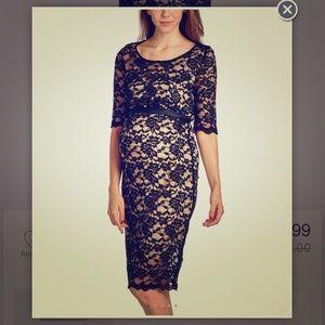 Hello MIZ Dresses & Skirts - Maternity Black Lace long dress size small