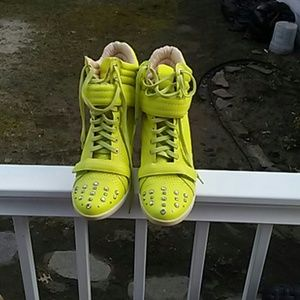 Boutique 9 Neon Wedge Sneakers