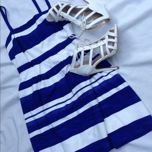 Loft Dresses & Skirts - Beautiful Blue and White Dress by Loft