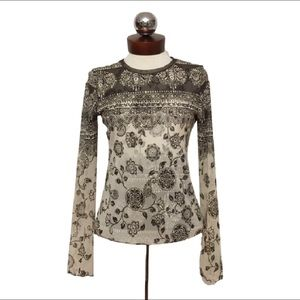 anac Tops - ANAC by KIMI mesh patterned top art to wear