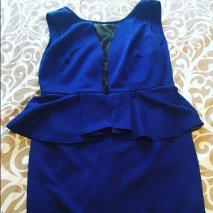 Fashion to Figure Dresses & Skirts - Blue peplum dress