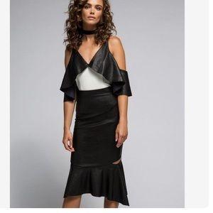 Bardot Dresses & Skirts - Bardot Peplum Pu Party Skirt size M/L