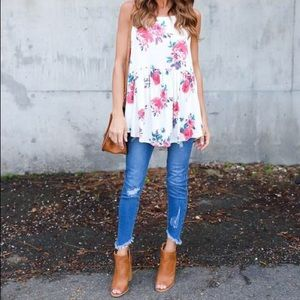 Vici Collection Tops - {Vici Collection} Blooms In The City Tank
