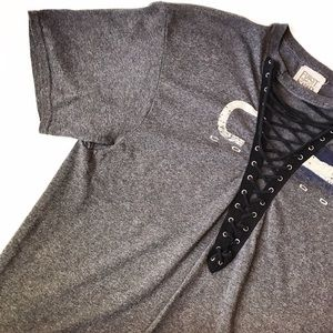 LF Tops - ➡LF Furst of a Kind Lace Up Front Tee⬅