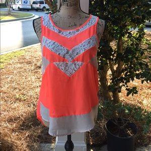 BKE Tops - 🌷🌷BKE boutique hi-lo summer lace blouse