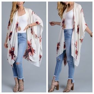 October Love Tops - 🎉S͟͟A͟͟L͟͟E͟͟🎉Breezy Floral Garden Party Kimono
