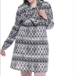 Dresses & Skirts - Madison Leigh Plus Size Printed Trapeze Dress