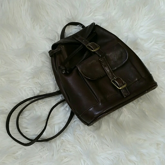 90's wilsons leather baby backpack!