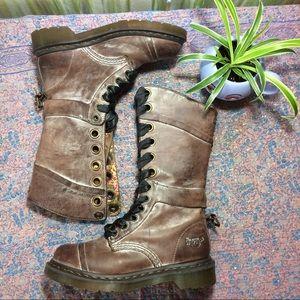 Dr. Martens Shoes - Dr. Martens Triumph Distressed Brown Leather Boots