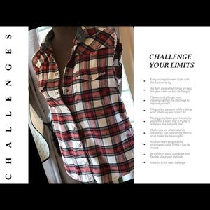 Jacks Girlfriend Tops - 💋Ragged and Ripped Flannel⚡️