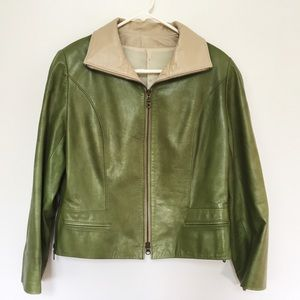 💚 Green Leather Jacket