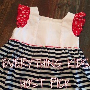"NOLA Smocked Other - HP🎊🌟""Stars&Stripes"" pinafore dress"