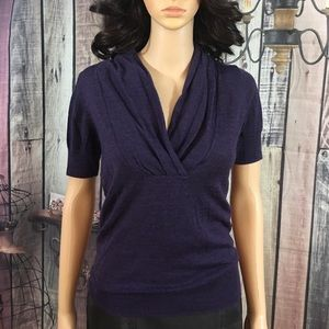 The Limited XS purple short sleeve knit top