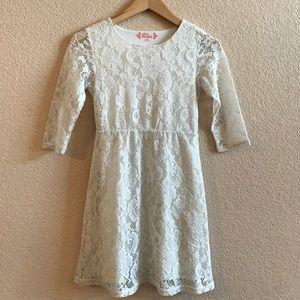 Mudd Other - Off white lace dress