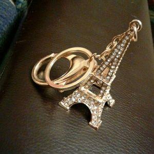 Handbags - Tour Eiffel Gold Bag Charm Keycharm Key Ring