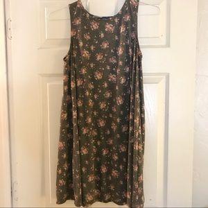 Modcloth Floral Tank Dress